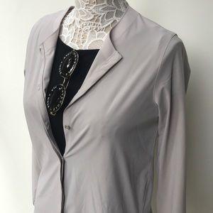 lululemon athletica Tops - Lululemon Neutral Blush Solo Blouse Cardigan Shirt